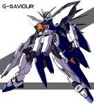g-saviour_gundam gun gundam gundam_g-saviour kappa_yoshimi mecha solo weapon