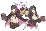 1boy 1girl ahoge black_hair blush fire_emblem fire_emblem:_kakusei fire_emblem_heroes gloves hood hooded_jacket jacket kamu_(kamuuei) long_hair looking_at_viewer mark_(fire_emblem) open_mouth short_hair smile