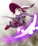 1boy animal_ears atelier_(series) atelier_shallie furry green_eyes hat homura_(atelier) japanese_clothes male_focus rabbit_ears rukani sandals solo sword teeth weapon