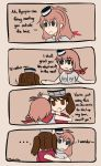 brown_hair comic english hair_between_eyes highres iam japanese_clothes kantai_collection long_hair multiple_girls neckerchief ponytail red_neckwear ryuujou_(kantai_collection) saratoga_(kantai_collection) seitokai_yakuindomo side_ponytail twintails visor_cap