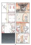 4koma bangs blunt_bangs cerulean_(kemono_friends) comic head_wings highres japanese_crested_ibis_(kemono_friends) kemono_friends multicolored_hair multiple_4koma murakami_rei music northern_white-faced_owl_(kemono_friends) page_number redhead silent_comic singing white_hair yellow_eyes