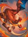 aqua_eyes breathing_fire charizard fiery_tail fire gen_1_pokemon pokemon sa-dui