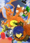blue_hair cape captain_falcon charizard claws f-zero facial_hair fire_emblem fire_emblem:_souen_no_kiseki fire_emblem_path_of_radiance furry game_&_watch gloves hat headband helmet highres ike kirby kirby_(series) luigi mr._game_&_watch mustache nintendo poke_ball pokemon red_eyes scarf star_fox starfox super_mario_bros. super_smash_bros. sword weapon wings wolf_o'donnell