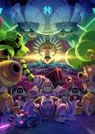 cannon clone cyborg facial_hair formal galactic_nova hammer highres junnkinn king_dedede kirby:_planet_robobot kirby_(series) max_profitt_haltmann mechanization meta_knight mustache opening_eyes robobot_armor robot space space_craft star_dream suit susie_(kirby) throne whispy_woods