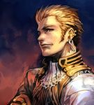 1boy balflear blonde_hair brown_eyes ear_piercing final_fantasy final_fantasy_xii hankuri jewelry male_focus piercing ring short_hair sideburns solo upper_body
