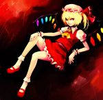 flandre_scarlet hat hironox red_eyes side_ponytail smile touhou wings