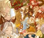 5boys 6+girls absurdres alec_(granblue_fantasy) algeiba alternate_hairstyle ardora beard blonde_hair bubble_blowing carrying casual chewing_gum child cow_horns doll dragon draph english erune facial_hair father_and_daughter fire flying_sweatdrops food food_on_face goggles granblue_fantasy hair_intakes hair_over_one_eye highres horns io_euclase lyria_(granblue_fantasy) minaba_hideo multiple_boys multiple_girls naoise narmaya_(granblue_fantasy) official_art plaid pointy_ears redhead redluck scathacha_(granblue_fantasy) shoulder_carry stuffed_animal stuffed_toy suspenders sweatdrop syr_(granblue_fantasy) teddy_bear twintails vee_(granblue_fantasy) yaia_(granblue_fantasy)