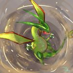 claws flygon flying gen_3_pokemon highres no_humans pokemon pokemon_(creature) red_eyes solo tesshii_(riza4828)