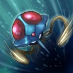 gen_1_pokemon highres no_humans pokemon pokemon_(creature) solo swimming tentacle tentacruel tesshii_(riza4828) underwater