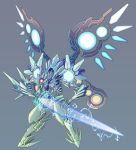 electricity full_body grey_background key-chang mecha no_humans original simple_background tagme thunder_force thunder_force_v wings