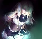 1girl blonde_hair creepy_eyes crystal glowing highres kirame_kirai lisette_(pocket_mirror) official_art pocket_mirror smile