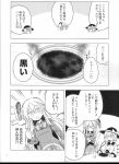 2girls absurdres comic greyscale hat hata_no_kokoro highres komeiji_koishi long_hair mask maturiuta_sorato monochrome multiple_girls scan third_eye touhou