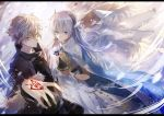 1girl 2boys anastasia_(fate/grand_order) blue_eyes command_spell fate/grand_order fate_(series) highres kadoc_zemlupus long_hair multiple_boys tsugutoku