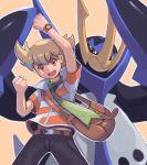 1boy absurdres blue_eyes character_request empoleon gen_4_pokemon highres pokemon pokemon_(creature) tesshii_(riza4828)