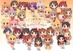 6+girls ahoge black_hair blonde_hair blush bow brown_hair chibi closed_mouth eyepatch fang fujimoto_rina glasses grey_hair hair_bow hair_ornament hairclip hayami_kanade hayasaka_mirei headphones heart hino_akane_(idolmaster) honda_mio hori_yuuko horns hoshi_shouko ichinose_shiki idolmaster idolmaster_cinderella_girls igarashi_kyouko jougasaki_mika jougasaki_rika kamijou_haruna kamille_(vcx68) kawashima_mizuki kimura_natsuki kohinata_miho koshimizu_sachiko long_hair looking_at_viewer matsunaga_ryou miyamoto_frederica mukai_takumi multicolored_hair multiple_girls namba_emi ninomiya_asuka ogata_chieri open_mouth parted_lips pink_hair purple_hair red_bow redhead sakurai_momoka sasaki_chie scrunchie shibuya_rin shimamura_uzuki shiomi_shuuko short_hair short_ponytail short_twintails side_ponytail skirt smile tada_riina takamori_aiko teeth twintails ueda_suzuho v white_skirt yamato_aki