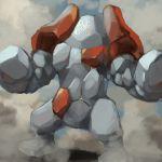 gen_3_pokemon legendary_pokemon no_humans pokemon pokemon_(creature) regirock tesshii_(riza4828)