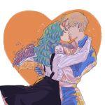 2girls bishoujo_senshi_sailor_moon closed_eyes couple kaiou_michiru kiss multiple_girls ten'ou_haruka yuri