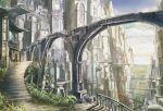 bridge building city cloud k_kanehira kanehira scenery sky stair stairs
