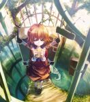 bad_id bag brown_eyes brown_hair highres hira_(pixiv) original short_hair