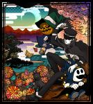 butterfly cap cape cat devil_summoner duplicate flower goto gouto hat jack_frost kuzunoha_raidou makora_higa moon persona pyro_jack raidou_kuzunoha_vs_king_abaddon raidou_kuzunoha_vs_the_soulless_army rain shako_cap sword weapon