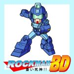 arm_cannon blue_destiny_01 cosplay crossover english gundam gundam_side_story:_the_blue_destiny japanese mayohi_neko mecha no_humans rockman rockman_(character) rockman_(character)_(cosplay) rockman_(classic) solo translation_request weapon