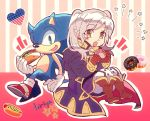 1boy 1girl animal blue_eyes blush cape crossover donut female_my_unit_(fire_emblem:_kakusei) fire_emblem fire_emblem:_kakusei flag_print food furry girl gloves heart hedgehog highres hot_dog human intelligent_systems kiriya_(552260) long_hair looking_at_viewer mamkute my_unit_(fire_emblem:_kakusei) nintendo reflet robin_(fire_emblem) robin_(fire_emblem)_(female) sega shoes silver_hair simple_background smile solo sonic sonic_the_hedgehog sora_(company) super_smash_bros. super_smash_bros._ultimate super_smash_bros_brawl super_smash_bros_for_wii_u_and_3ds twintails white_hair