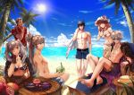 beach bikini blue_eyes blue_hair cape celica_(fire_emblem) crown female_my_unit_(fire_emblem:_kakusei) fire_emblem fire_emblem:_kakusei fire_emblem:_monshou_no_nazo fire_emblem_echoes:_mou_hitori_no_eiyuuou fire_emblem_heroes fire_emblem_if gimurei jewelry krom long_hair looking_at_viewer male_my_unit_(fire_emblem:_kakusei) mamkute multiple_girls my_unit_(fire_emblem:_kakusei) open_mouth ponytail red_eyes redhead robe shirt short_hair smile swimsuit takumi_(fire_emblem_if) tiara twintails wanini white_hair yellow_eyes
