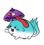 >:d :3 littlehizi sukusuku_hakutaku tail tatara_kogasa tongue tongue_out touhou umbrella white_background