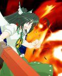 long_hair reiuji_utsuho tasoku_hokou_heiki touhou wings