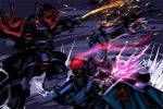 blue_destiny_01 damage damaged efreet_custom energy_sword gundam gundam_side_story:_the_blue_destiny mecha sword tsuki_hiro weapon