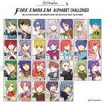alm_(fire_emblem) armor berkut_(fire_emblem) blue_eyes blue_hair blush circlet diadora_(fire_emblem) dress fire_emblem fire_emblem:_monshou_no_nazo fire_emblem:_rekka_no_ken fire_emblem:_seisen_no_keifu fire_emblem:_souen_no_kiseki fire_emblem_echoes:_mou_hitori_no_eiyuuou fire_emblem_heroes fire_emblem_if green_eyes green_hair headband highres hinoka_(fire_emblem_if) katua lavender_hair long_hair marth multiple_boys multiple_girls open_mouth oscar purple_hair red_eyes redhead rheamii short_hair smile tiara ursula_(fire_emblem) violet_eyes