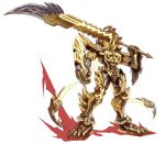 1boy armor fang garo garo:vanishing_line garo_(series) gold_armor highres holding holding_sword holding_weapon huge_weapon male_focus red_eyes solo sword sword_(garo) weapon zhen_long