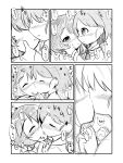 !! 2girls :o absurdres bangs blush closed_eyes commentary_request eyebrows_visible_through_hair faceless faceless_female facing_another french_kiss girls_und_panzer greyscale hand_holding hands_on_another's_face heart highres interlocked_fingers kiss makuran monochrome multiple_girls neckerchief nose_blush ooarai_school_uniform parted_lips sakaguchi_karina school_uniform serafuku short_hair translation_request utsugi_yuuki yuri