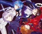 ayanami_rei bad_id blue_eyes blue_hair brown_eyes brown_hair ikari_shinji lance_of_longinus long_hair microphone nagisa_kaworu neon_genesis_evangelion numeri_(gunfra) numeri_(pixiv) plugsuit red_eyes red_hair redhead sachiel short_hair silver_hair singing souryuu_asuka_langley