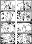 2girls 4koma :d =_= bikini_top blush bow closed_eyes closed_mouth coat comic commentary_request crying female_pervert flashing flat_chest ghost hair_bow hitodama idea kanikama light_bulb long_hair multiple_4koma multiple_girls nose_blush open_clothes open_coat open_mouth original pervert pleated_skirt school_uniform serafuku shirt short_sleeves silent_comic skirt smile sparkle streaming_tears sweat tears translation_request trembling triangular_headpiece very_long_hair