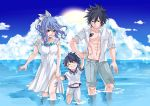 blue_hair fairy_tail family father father_and_son female gray_fullbuster juvia_loxar male mother mother_and_son short_hair spiky_hair