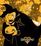 1boy 1girl halloween heartless kingdom_hearts kingdom_hearts_ii medium_hair namine roxas short_hair yellow
