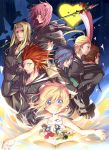 axel_(kingdom_hearts) black_coat_(kingdom_hearts) blonde_hair blue_eyes breasts commentary_request donald_duck goofy kingdom_hearts kingdom_hearts_chain_of_memories larxene lexaeus long_hair marluxia multiple_boys multiple_girls namine organization_xiii short_hair small_breasts smile sora_(kingdom_hearts) vexen zexion zyano