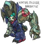 aburaya_tonbi gundam gundam_barbatos gundam_tekketsu_no_orphans marvel mecha winter_soldier