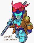 aburaya_tonbi gambit guncannon gundam marvel mecha x-men