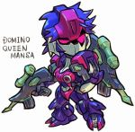 aburaya_tonbi domino_(marvel) gun gundam gundam_zz marvel mecha rifle weapon x-men