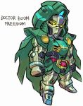 cloak doctor_doom fantastic_four freedom_gundam gundam gundam_seed marvel mecha
