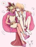 1boy 1girl breasts genderswap genderswap_(mtf) jounouchi_katsuya lirico long_hair short_hair smile yami_yuugi yu-gi-oh! yuu-gi-ou_duel_monsters