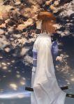 1girl brown_hair clouds cloudy_sky fate/grand_order fate_(series) japanese_clothes kara_no_kyoukai katana kimono profile ryougi_shiki scabbard sheath short_hair sky solo sword weapon zhoumo_fangjia