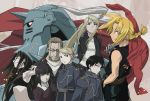aiguillette alphonse_elric androgynous armor bangs black_hair blonde_hair blunt_bangs bob_cut braid dante_(fma) edward_elric envy envy_(fma) everyone fullmetal_alchemist glasses highres hohenheim lyra military military_uniform riza_hawkeye roy_mustang short_hair uniform van_hohenheim winry_rockbell