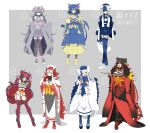 6+girls :3 :d alternate_color animal_ears aqua_eyes bell bell_collar belt belt_buckle black_belt black_collar black_hair black_legwear black_panties blue_gloves blue_hair blue_legwear blue_sailor_collar blue_skirt boots bow breasts buckle buttons cat_cutout cat_ears cat_girl cat_tail claw_pose cleavage cleavage_cutout closed_mouth coat collar collarbone commentary_request cross-laced_footwear crossed_bangs elbow_gloves espurr eyebrows eyebrows_visible_through_hair eyeliner fang fingerless_gloves fingernails frown fur_collar garter_straps gen_5_pokemon gen_6_pokemon gen_7_pokemon geta gloves green_eyes grey_hair grey_legwear grey_skirt hair_bell hair_between_eyes hair_bow hair_ornament hakama hakama_skirt hand_up hands_up high-waist_skirt high_heel_boots high_heels highres hime_(ohime_pkg) holding horizontal-striped_legwear horizontal_stripes incineroar interlocked_fingers jacket_on_shoulders japanese_clothes jingle_bell kimono kiseru lace-up_boots large_breasts legs_apart legs_crossed litten long_hair long_sleeves makeup meowstic miniskirt multicolored multicolored_clothes multicolored_footwear multicolored_gloves multicolored_hair multicolored_legwear multiple_girls nail_polish number open_clothes open_coat open_mouth panties personification pink_bow pipe pleated_skirt pokemon purrloin red_bow red_eyes red_footwear red_gloves red_legwear red_nails redhead revealing_clothes sailor_collar shiny_pokemon shirt skirt sleeves_past_fingers smile speech_bubble standing striped striped_gloves striped_tail tabi tail tail_raised thigh-highs thigh_strap tiger_ears tiger_tail tongue translated two-tone_gloves two-tone_hair two-tone_legwear unbuttoned underwear v_arms very_long_hair watson_cross white_belt white_bow white_coat white_footwear white_gloves white_hair white_hakama white_shirt white_skirt wide_sleeves yellow_eyes yellow_footwear yellow_sclera zettai_ryouiki