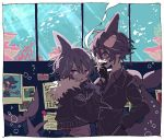 artist_request black_hair business_suit fins formal gloves idate jacket looking_at_viewer male_focus oounabara_to_wadanohara orca poster_(object) samekichi shark shark_fin short_hair smoking suit tail underwater