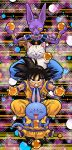 4boys animal bare_arms beerus black_cat black_eyes black_hair blue_pants boots bracelet cat character_request closed_eyes dougi dragon_ball dragon_ball_(object) dragonball_z fingernails full_body grin holding jewelry karin_(dragon_ball) looking_at_viewer multicolored multicolored_background multiple_boys muscle necklace neko_majin_(series) open_mouth outstretched_arms pants serious short_hair smile son_gokuu spiky_hair staff stargeyser tail tama_(dragon_ball) teeth whiskers white_cat wristband