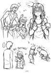 ... 1boy 1girl amamiya_ren blush comic directional_arrow embarrassed groin_attack pcmaniac88 persona persona_5 petting sakura_futaba silent_comic