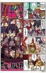 3girls 4boys 4koma ahoge artist_name biting black_hair blue_eyes brown_hair cage clenched_teeth cocktail_glass comic copyright_name crying cup darling_in_the_franxx drinking_glass fangs fetal_position flag futoshi_(darling_in_the_franxx) gorou_(darling_in_the_franxx) hairband highres hiro_(darling_in_the_franxx) ichigo_(darling_in_the_franxx) mato_(mozu_hayanie) miku_(darling_in_the_franxx) multiple_boys multiple_girls pink_hair sharp_teeth sock_garters teeth twintails uniform wavy_eyes zero_two_(darling_in_the_franxx) zorome_(darling_in_the_franxx)